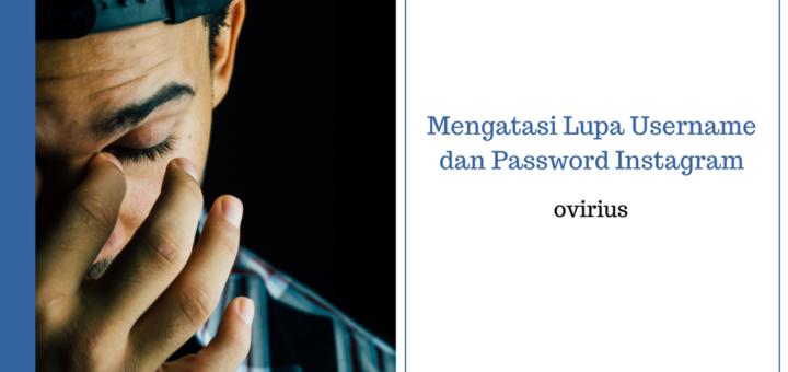 lupa username dan password Instagram