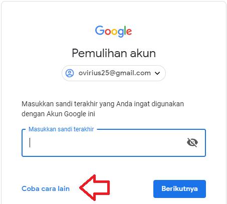 cara mereset password gmail