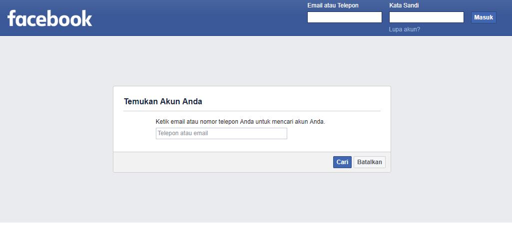 buka facebook saya sendiri