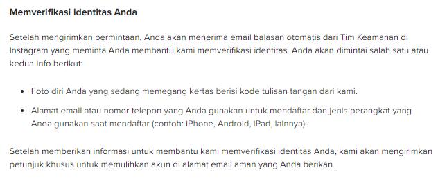 cara menghubungi pihak instagram lewat email