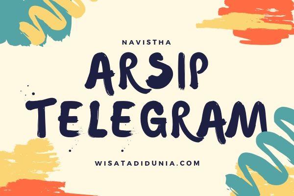 cara mengembalikan arsip telegram