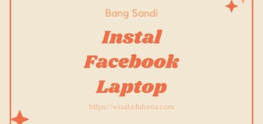 Cara Instal Facebook Di Laptop
