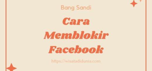 Cara Memblokir Facebook