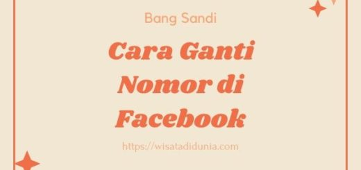 Cara Mengganti Nomor di FB