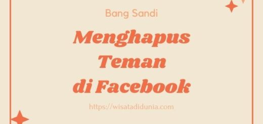 Cara Menghapus Teman di FB
