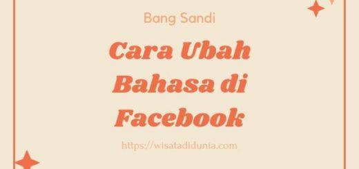 Cara Mengubah bahasa di Facebook
