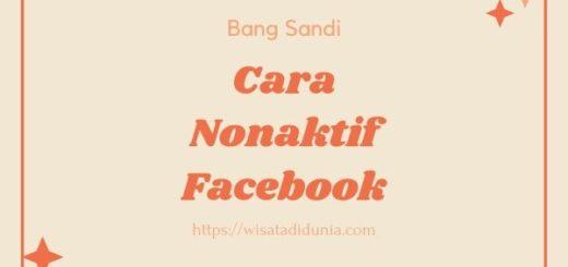Cara Menonaktifkan FB