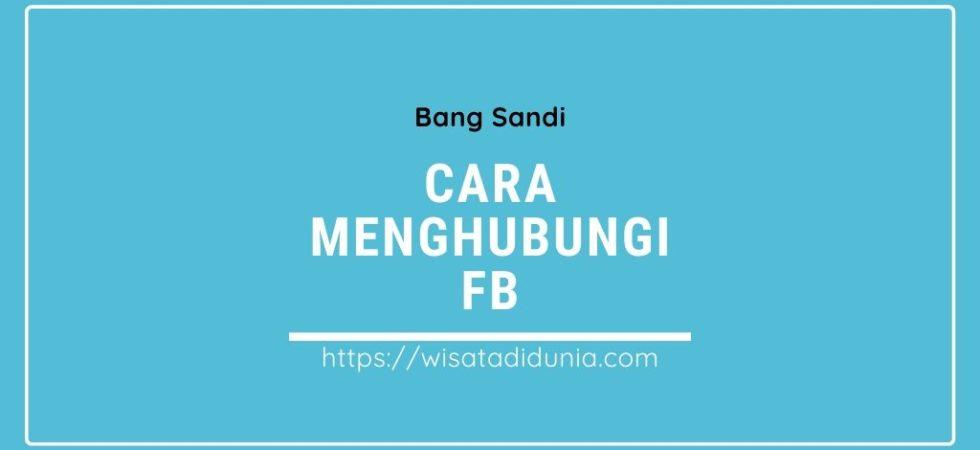Cara Menghubungi Facebook