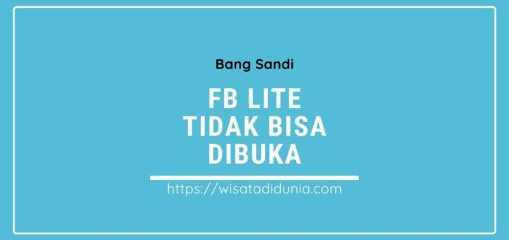Facebook Lite Tidak Bisa Dibuka dengan WiFi